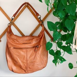Anthropologie Liebeskind Genuine Camel Leather Bag